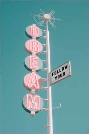 Tableau en aluminium  Follow your dream - Jonas Loose