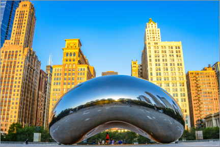 Poster  Cloud Gate, Chicago - HADYPHOTO