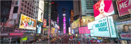 Poster  Panorama de Times Square - Jan Christopher Becke