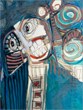 Tableau sur toile  The laughing third - MASCH ART
