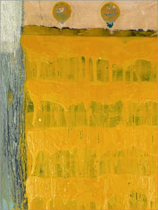 Tableau en bois  Two points with yellow - MASCH ART