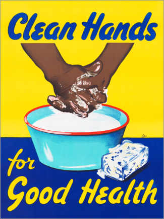 Poster  Clean hands for good health - Advertising Collection