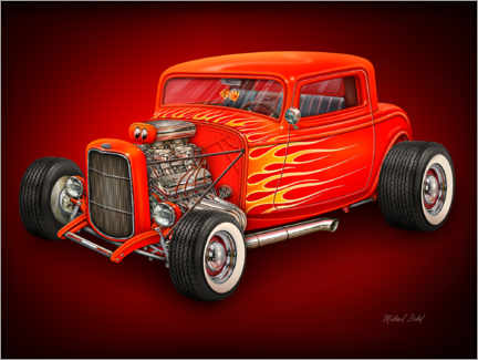Poster Red Hot Rod