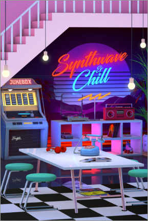 Poster  Synthwave and Chill - Denny Busyet