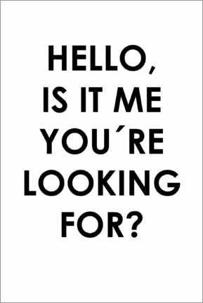 Tableau en aluminium  Hello, is it me you're looking for? - Typobox