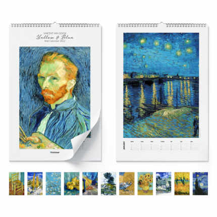 Calendrier mural  Yellow & Blue 2021 - Vincent van Gogh