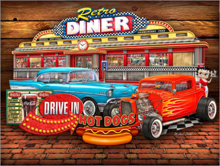 Poster Retro Diner