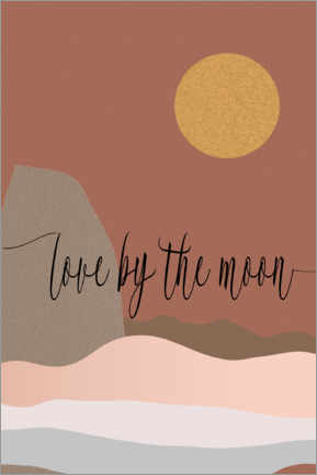 Poster Love by the moon