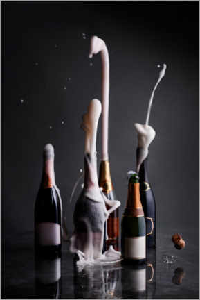 Poster  Bouteilles de champagne ouvertes - The Picture Pantry