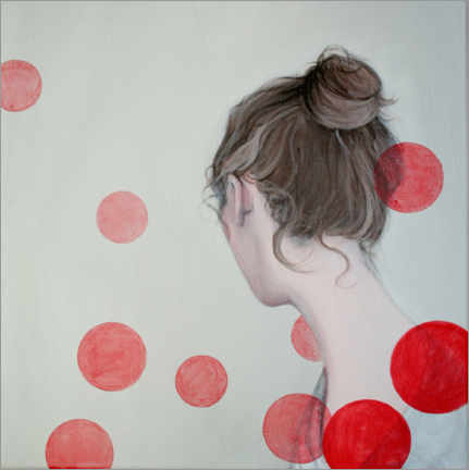 Tableau en PVC  Points rouges - Karoline Kroiss