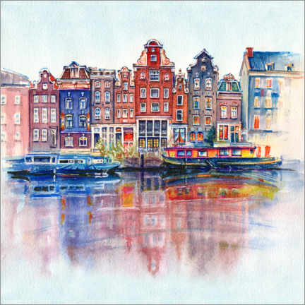 Poster  Les canaux d'Amsterdam