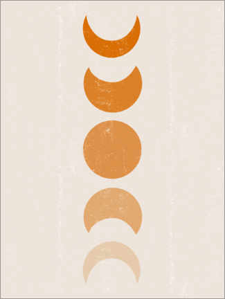 Poster Phases lunaires