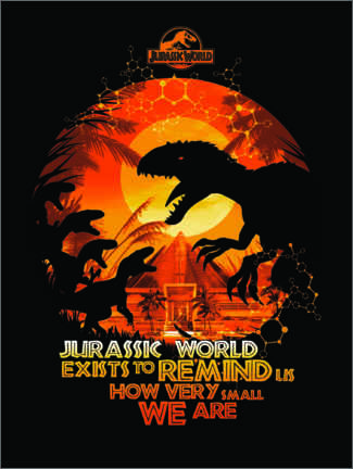 Poster  Jurassic World - citation (anglais)