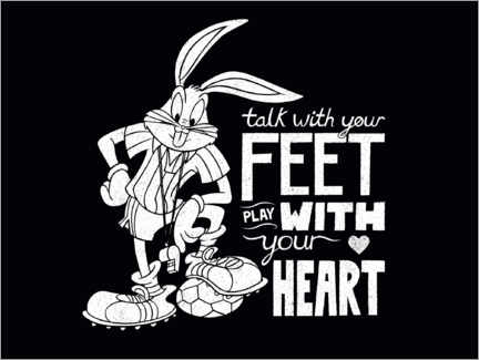 Tableau sur toile  Bugs Bunny - Soccer quote