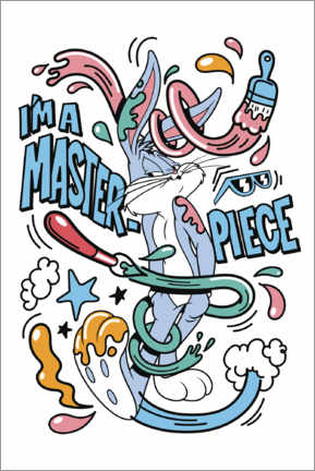 Poster  Bugs Bunny - I'm a masterpiece