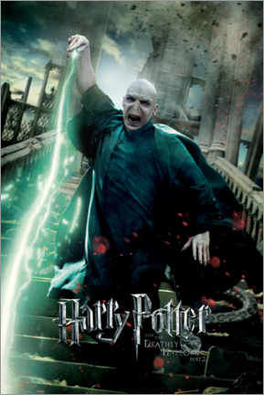 Sticker mural  The Deathly Hallows II - Voldemort Duel