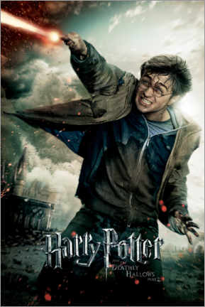 Tableau en aluminium  The Deathly Hallows II - Harry Potter Duel