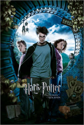 Tableau en PVC  The Prisoner of Azkaban - Trio