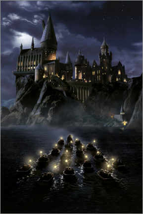Tableau en aluminium  Harry Potter and the Philosopher's Stone, Hogwarts