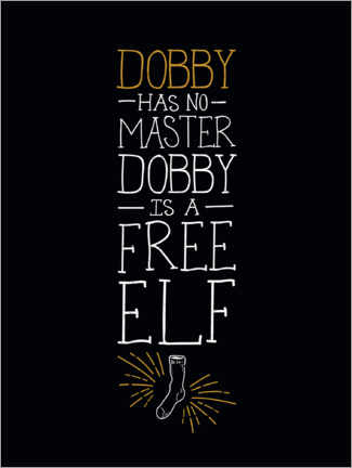 Sticker mural  Dobby has no master - Quote