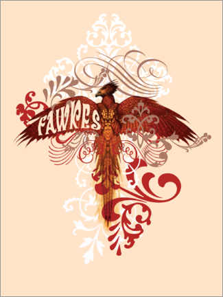 Poster  Harry Potter - Fawkes