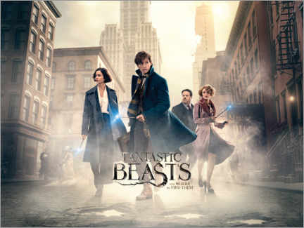 Tableau en bois  Fantastic Beasts and Where to Find Them - Theatrical poster