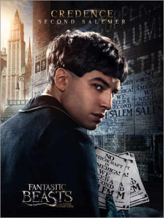 Poster  Fantastic Beasts and Where to Find Them - Credence Barebone
