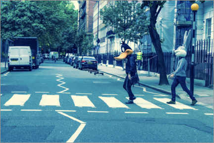 Poster Bugs & Daffy - Abbey Road