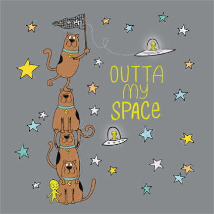 Poster  Scooby - Outta my space