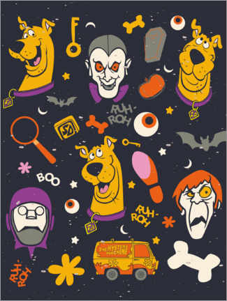 Poster  Scooby Doo - monster faces