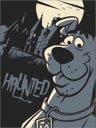 Poster  Scooby Doo - Haunted house