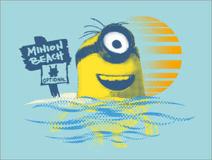 Sticker mural  Minion Beach
