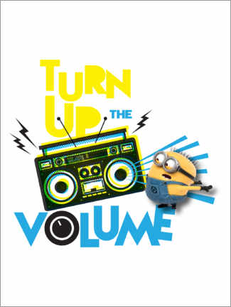 Tableau en plexi-alu  Minions - Turn up the volume