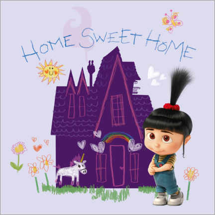 Tableau en aluminium  Agnes - Home sweet home