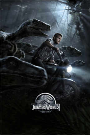 Tableau en plexi-alu  Jurassic World - Raptor Squad