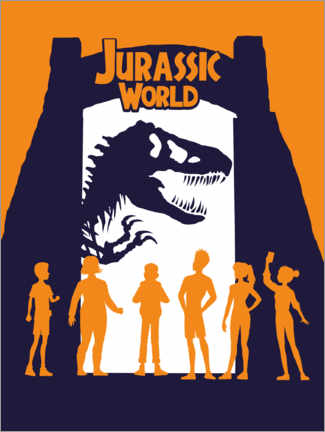 Poster  Jurassic World - silhouettes