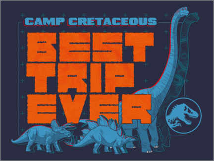 Poster  Camp Cretaceous - Best trip ever