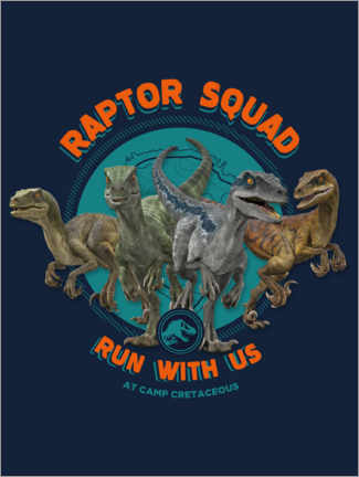 Sticker mural  Camp Cretaceous - Raptor Squad