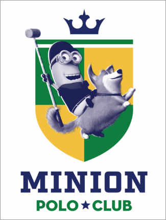 Tableau en plexi-alu  Minion Polo Club