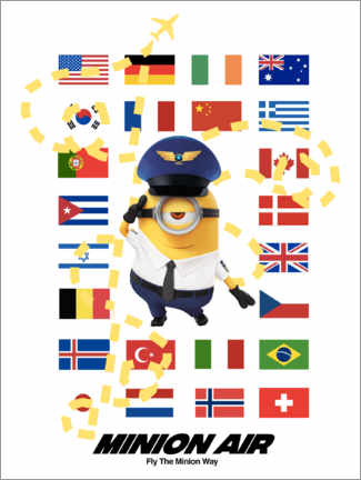 Tableau en PVC  Minion Air