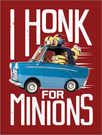 Poster  I honk for minions