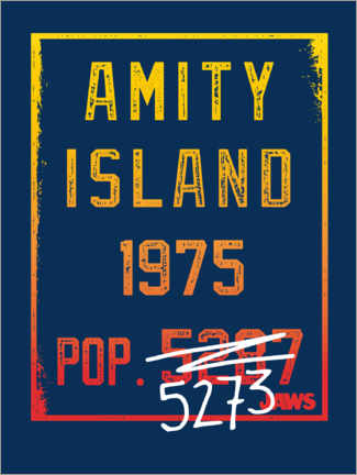 Poster  Amity Island - Population