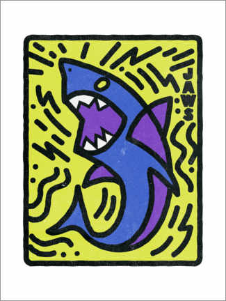 Poster  Jaws - Keith Haring Style