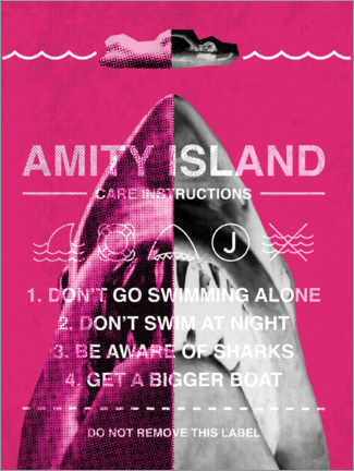 Poster  Amity Island - instructions