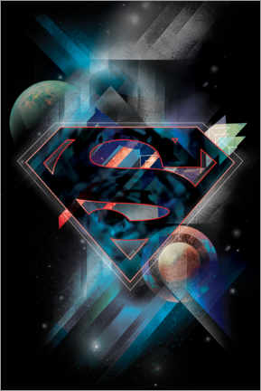 Poster  Superman Iconic Space Shield