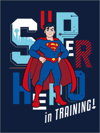 Tableau en bois  Super Hero in Training