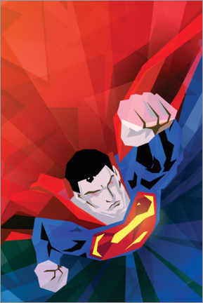 Sticker mural  Superman red and blue