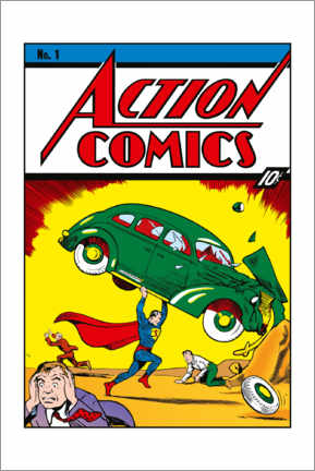 Tableau en aluminium  Superman Action Comics No.1