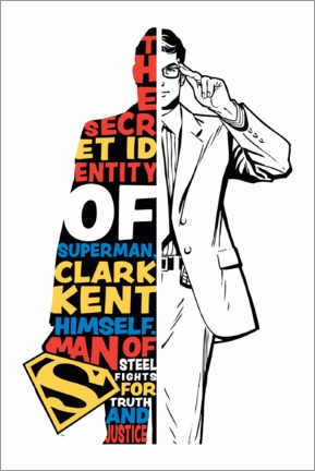 Sticker mural  Clark Kent - Superman Typography