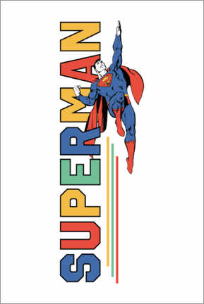 Tableau en aluminium  Superman Power Flight